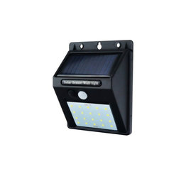 0,75W LED Solar Wandleuchte mit PIR Sensor Schwarz IP54 Kaltweiß