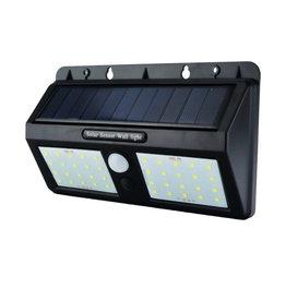 1,5W LED Solar Wandleuchte mit PIR Sensor Schwarz IP54 Kaltweiß