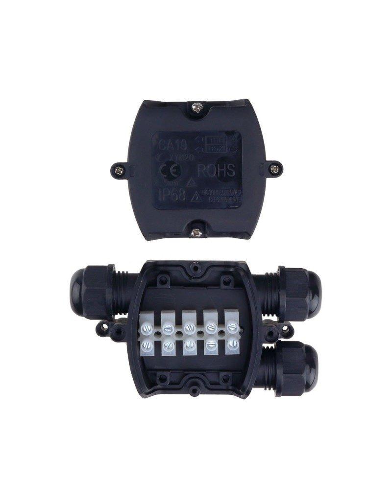 LEDFactory Kabelverbindungsdose mit 3 Kabeleinlässe 1,5-4mm² IP68