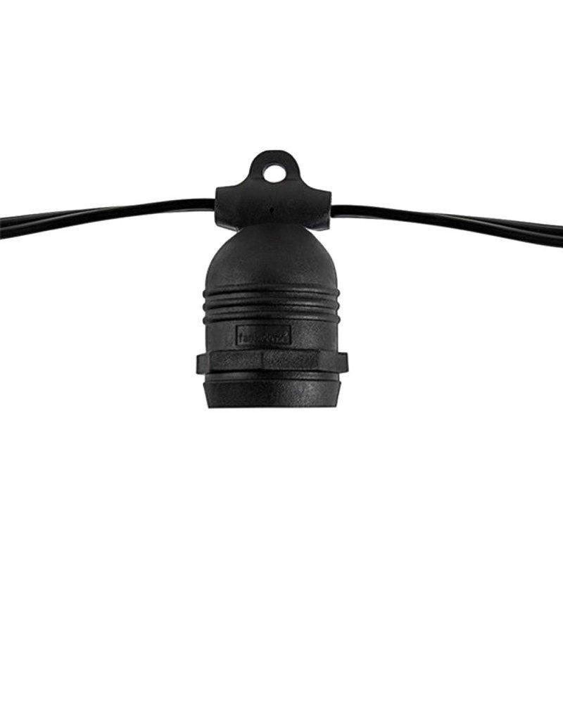 Lichterkette mit E27 Fassung 15 Stk. 14,4 Meter fixer Sockel IP65