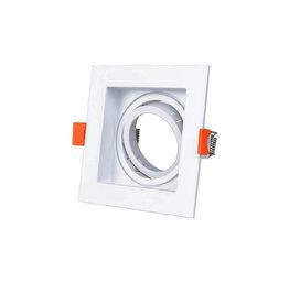 LEDFactory Einbaurahmen für LED GU10 Quadratisch inkl. Fassung Weiß