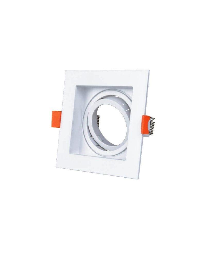 Einbaurahmen für LED GU10 Quadratisch inkl. Fassung Weiß