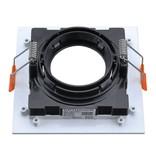 LEDFactory Einbaurahmen für LED GU10 Quadratisch inkl. Fassung Weiß/Schwarz