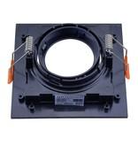 LEDFactory Einbaurahmen für LED GU10 Quadratisch inkl. Fassung Schwarz