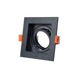Einbaurahmen für LED GU10 Quadratisch inkl. Fassung Schwarz