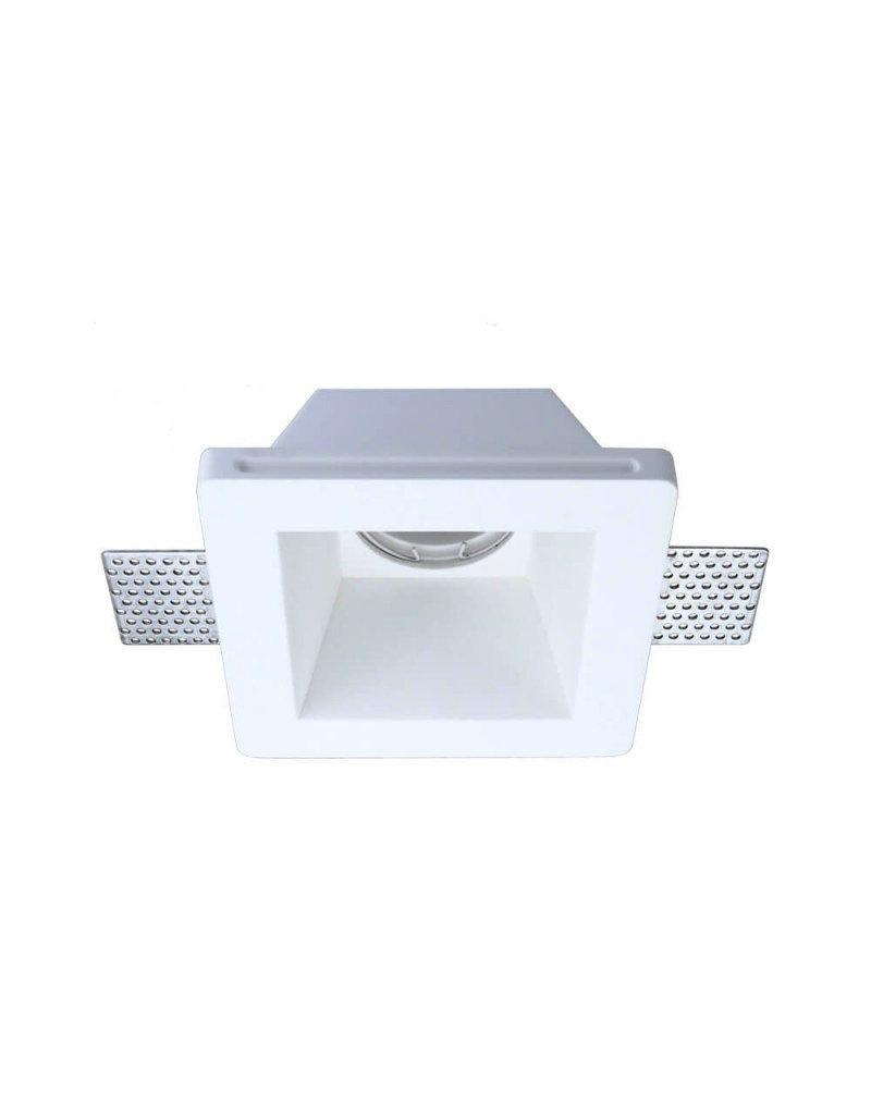 LEDFactory Einbaurahmen Trimless für LED GU10 Quadratisch 1-fach Weiß