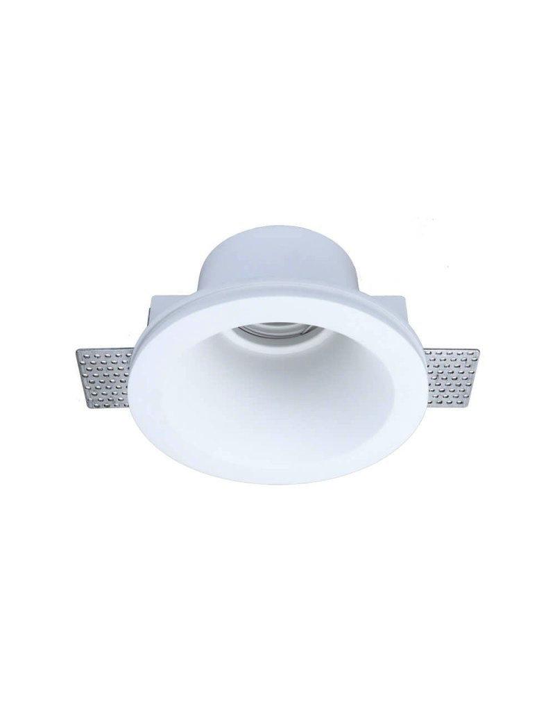 Einbaurahmen Trimless für LED GU10 versenkt Rund Weiß