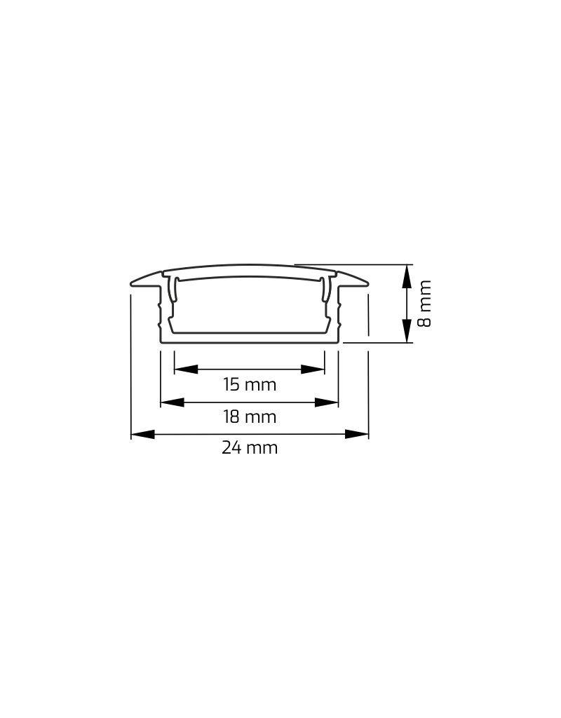 Aluprofil INLINE-Z 2m (Breite Version)