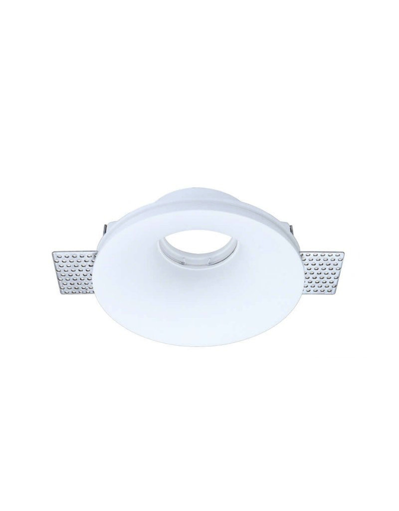 Einbaurahmen Trimless für LED GU10 Rund Konisch Weiß