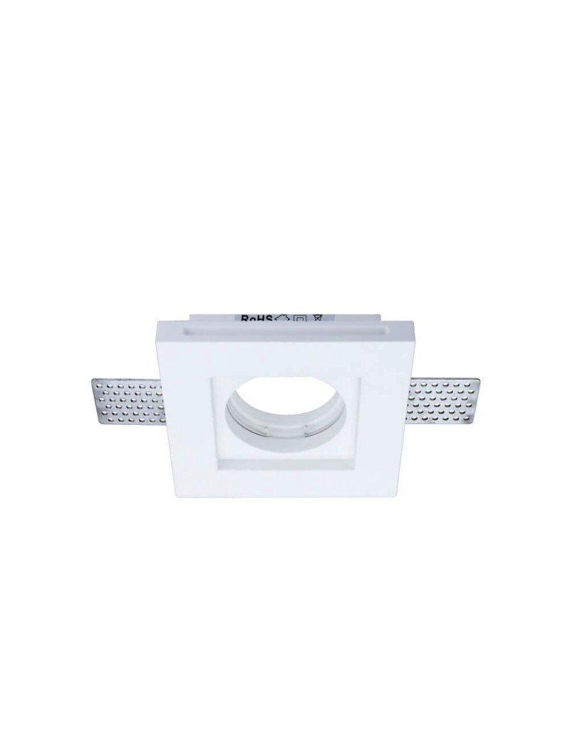 Einbaurahmen Trimless für LED GU10 Quadratisch Weiß