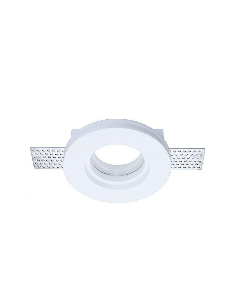 Einbaurahmen Trimless für LED GU10 Rund Weiß