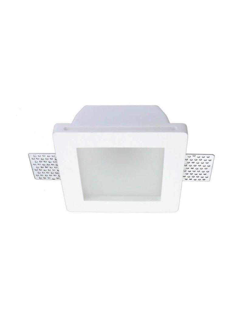 Einbaurahmen Trimless für LED GU10 Quadratisch matt 1-fach Weiß