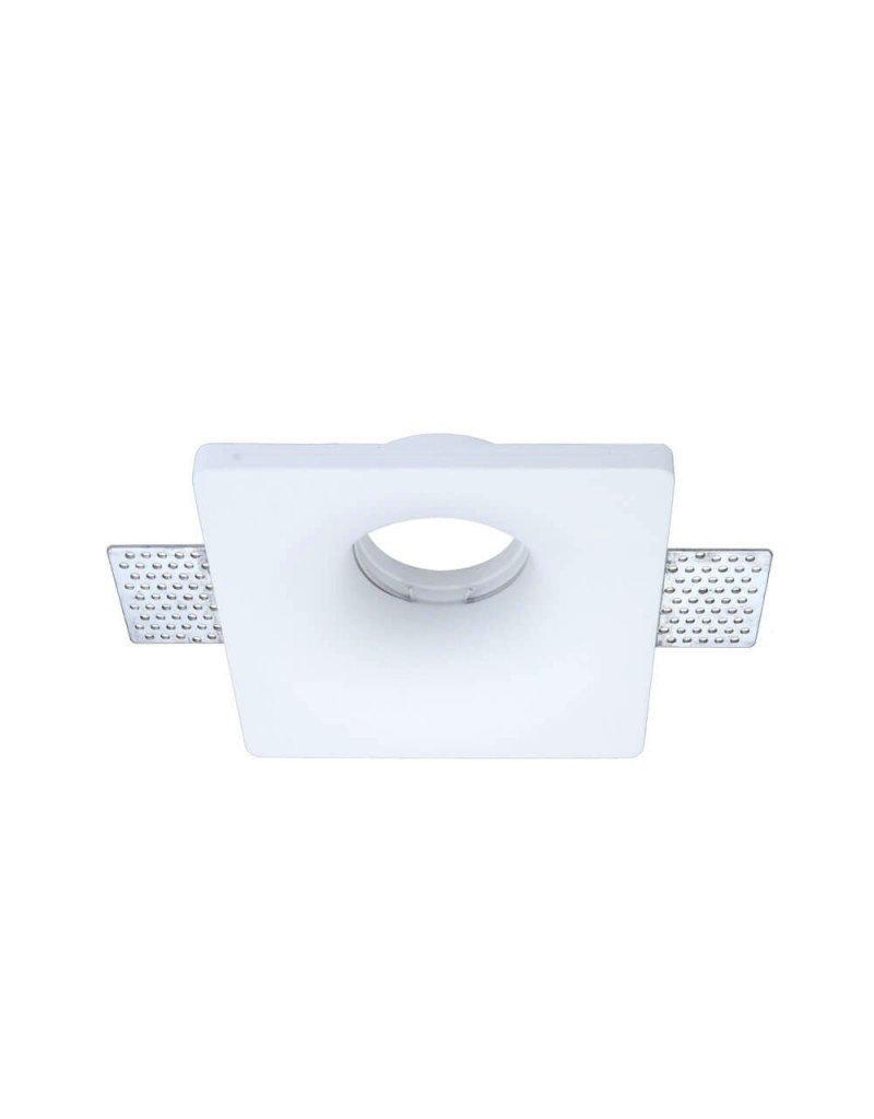 Einbaurahmen Trimless für LED GU10 Quadratisch Konisch Weiß