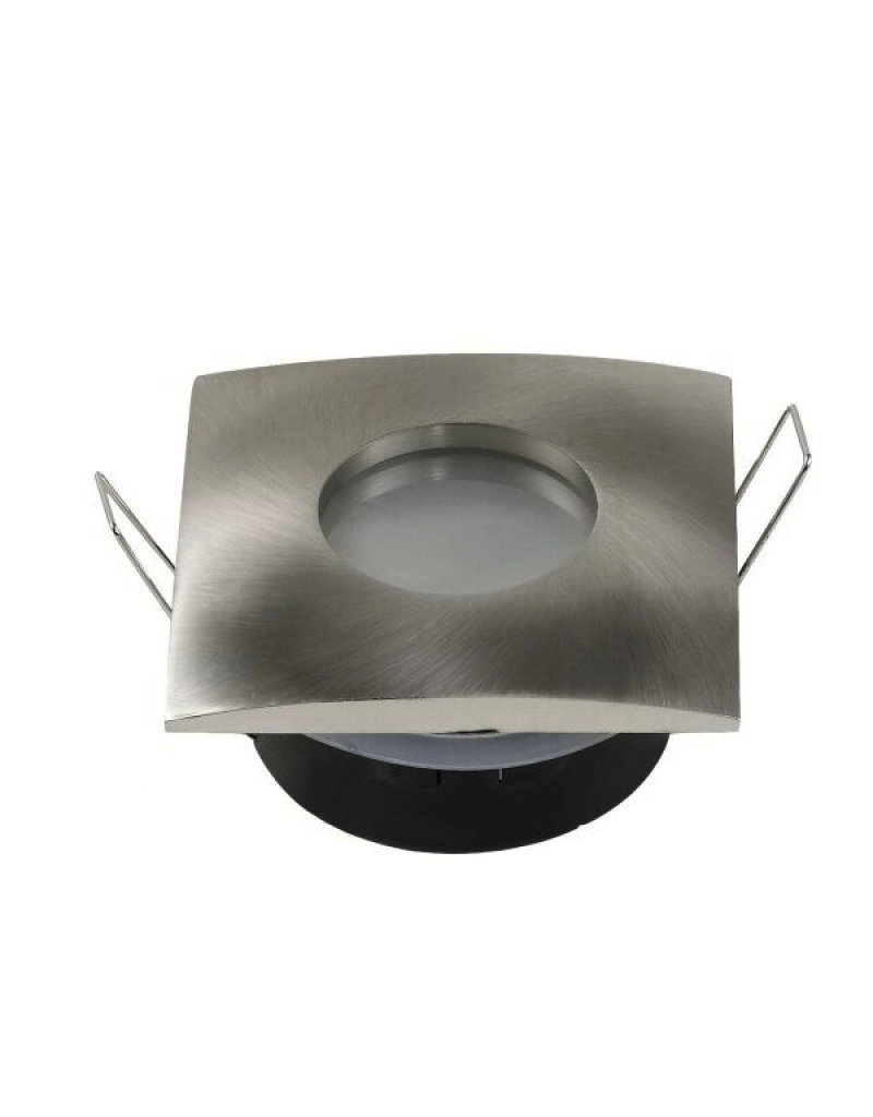 Einbaurahmen für LED GU10 Strahlwassergeschützt Quadratisch Inox IP65