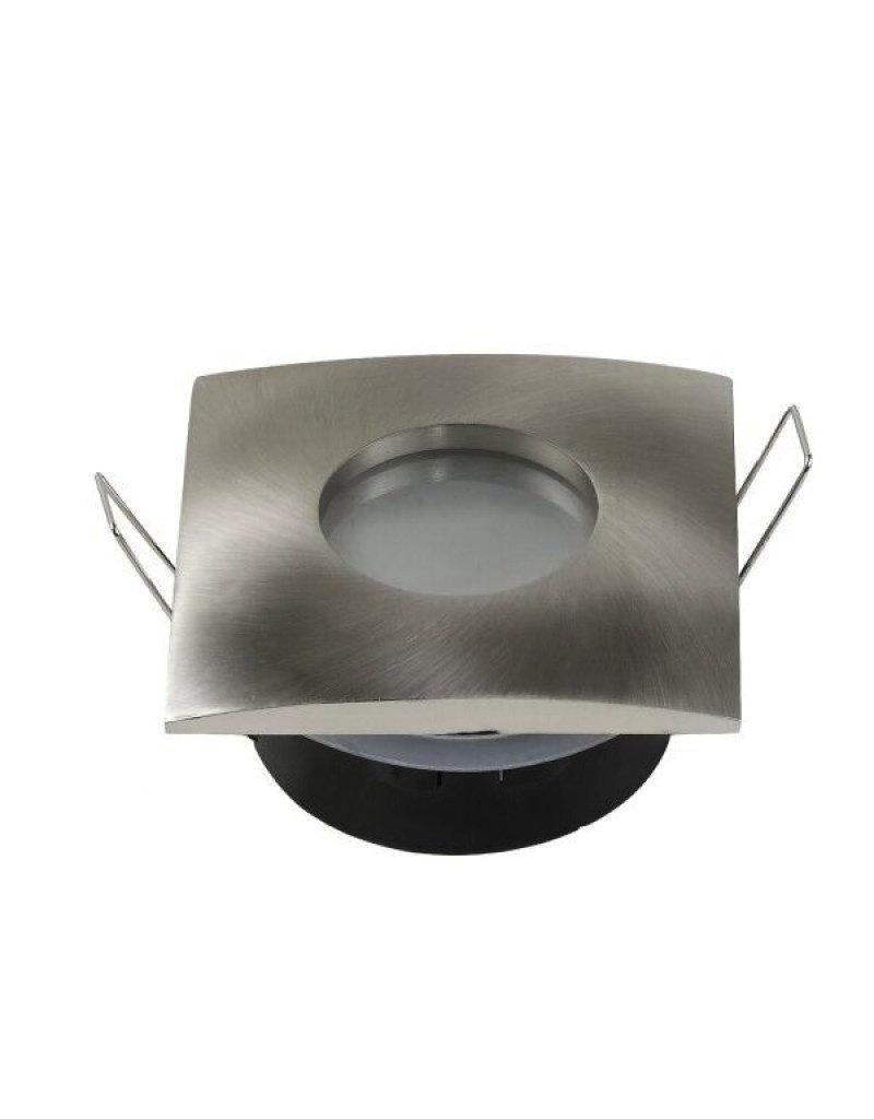 LEDFactory Einbaurahmen für LED GU10 Strahlwassergeschützt Quadratisch Inox IP65