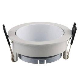 LEDFactory Einbaurahmen für LED GU10 Rund Weiß mit weißem Reflektor