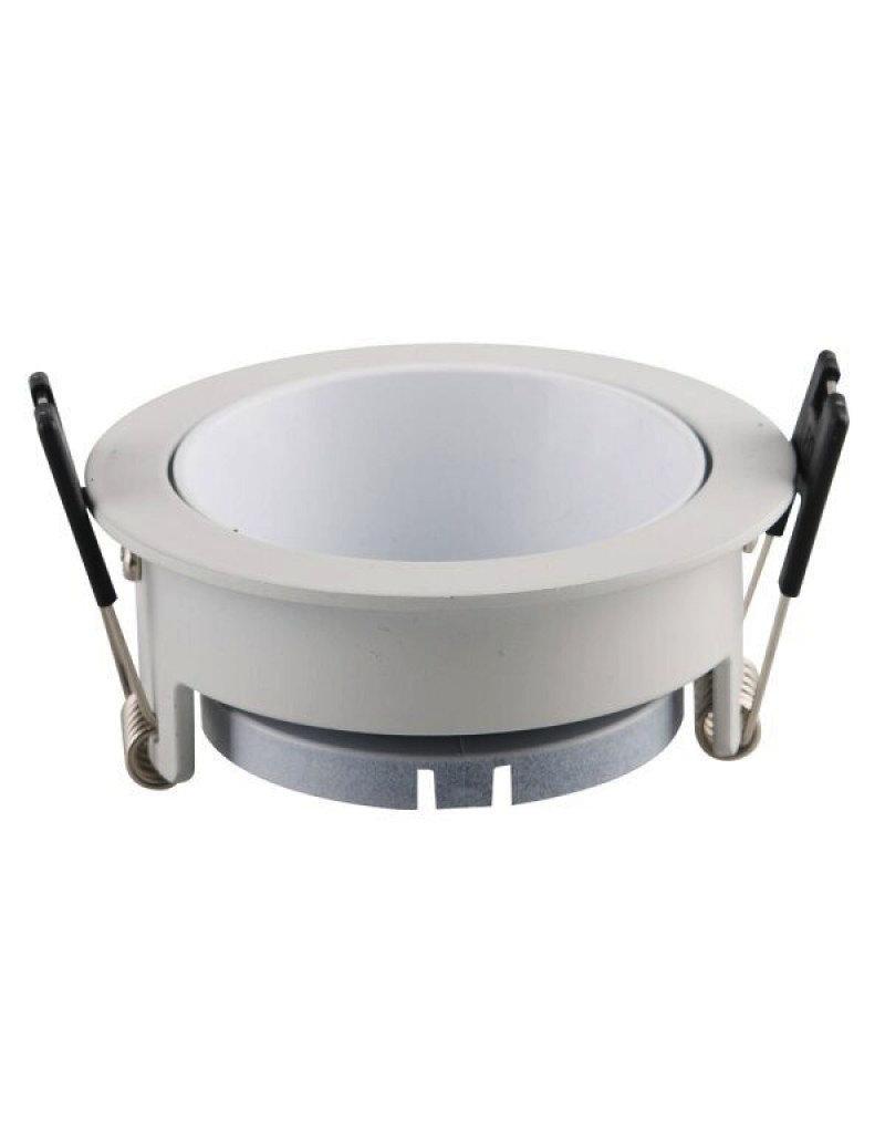 Einbaurahmen für LED GU10 Rund Weiß mit weißem Reflektor