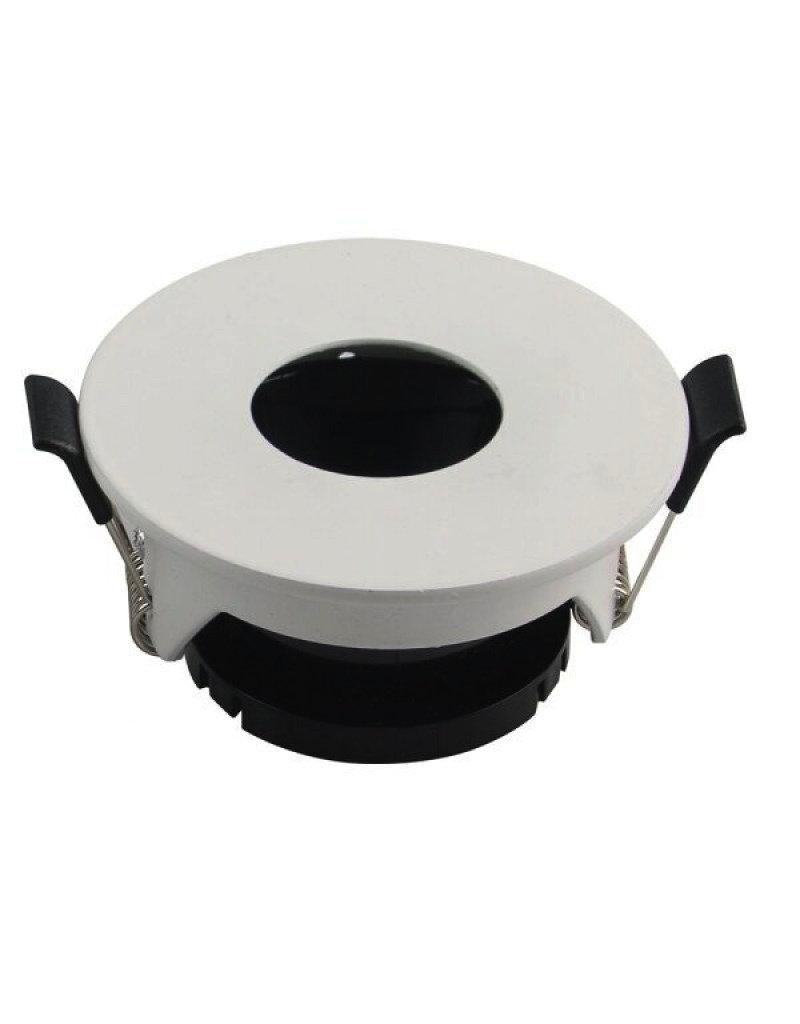 Einbaurahmen für LED GU10 Rund mit rundem Lichtauslass Weiß