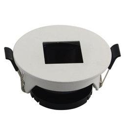 LEDFactory Einbaurahmen für LED GU10 Rund mit quad. Lichtauslass Weiß
