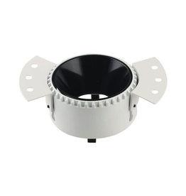 LEDFactory Einbaurahmen GU10 Rund Trimless Weiß mit schwarzem Reflektor