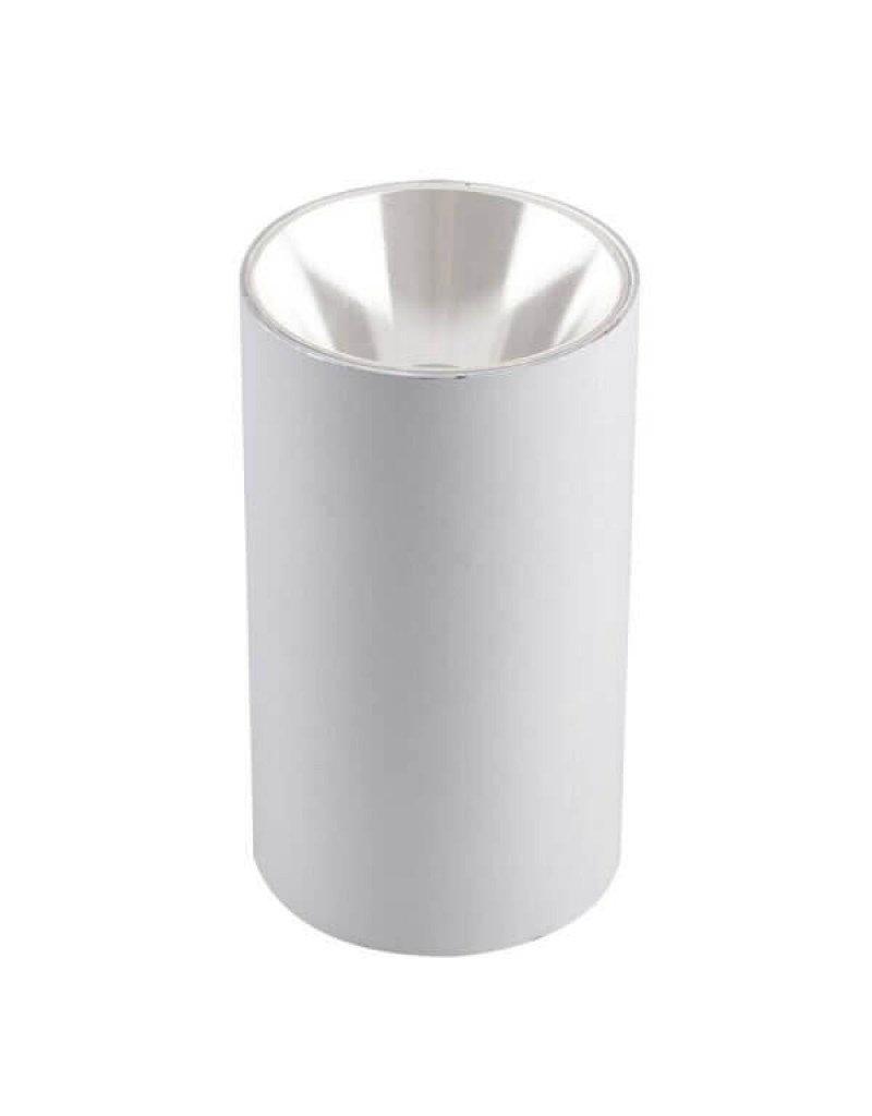LEDFactory Deckenstrahler GU10 Rund Weiß mit weißem Reflektor