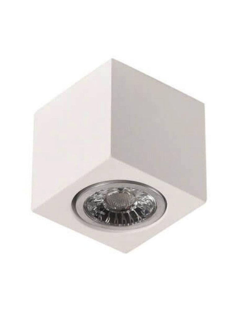 Aufbaurahmen für LED GU10 Quadratisch Weiß 7cm