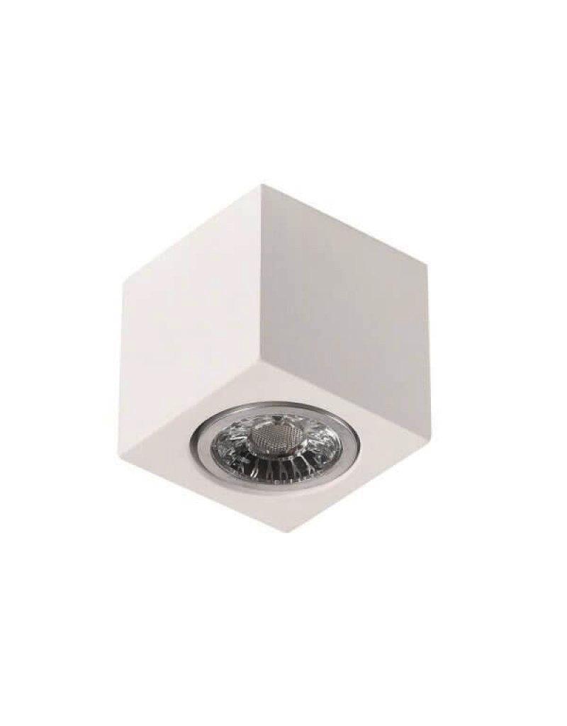 LEDFactory Aufbaurahmen für LED GU10 Quadratisch Weiß 7cm