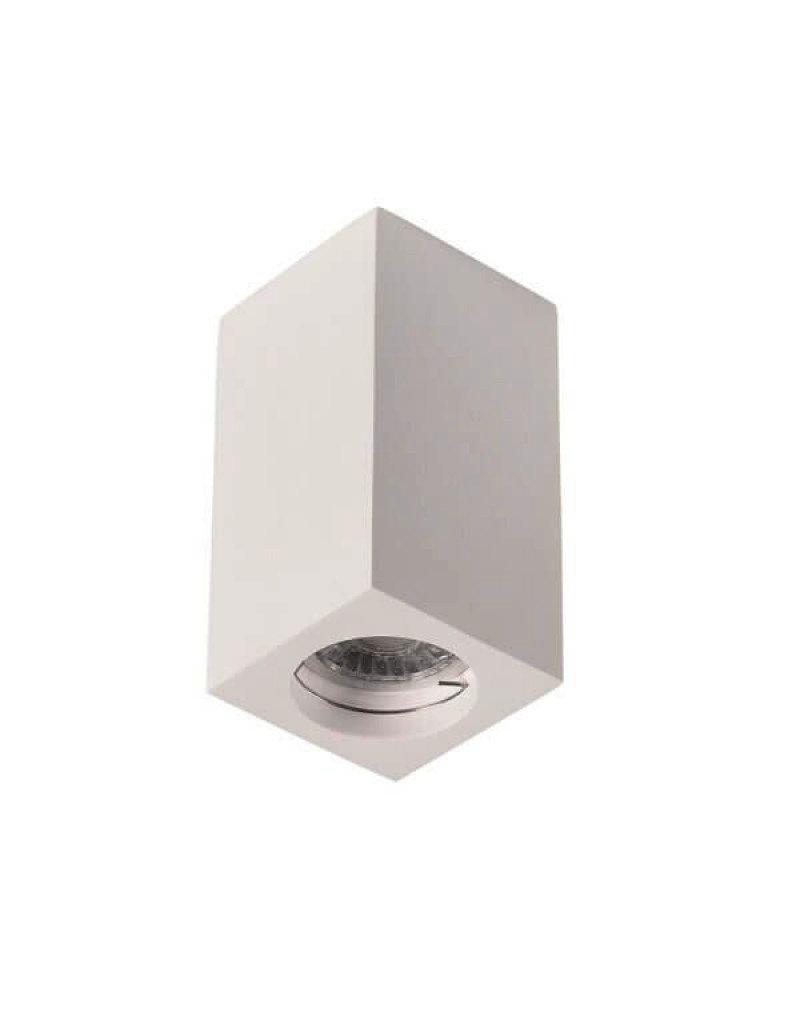 LEDFactory Aufbaurahmen für LED GU10 Quadratisch Weiß 17cm