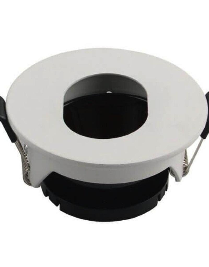 Einbaurahmen für LED GU10 Rund mit ovalem Lichtauslass Weiß