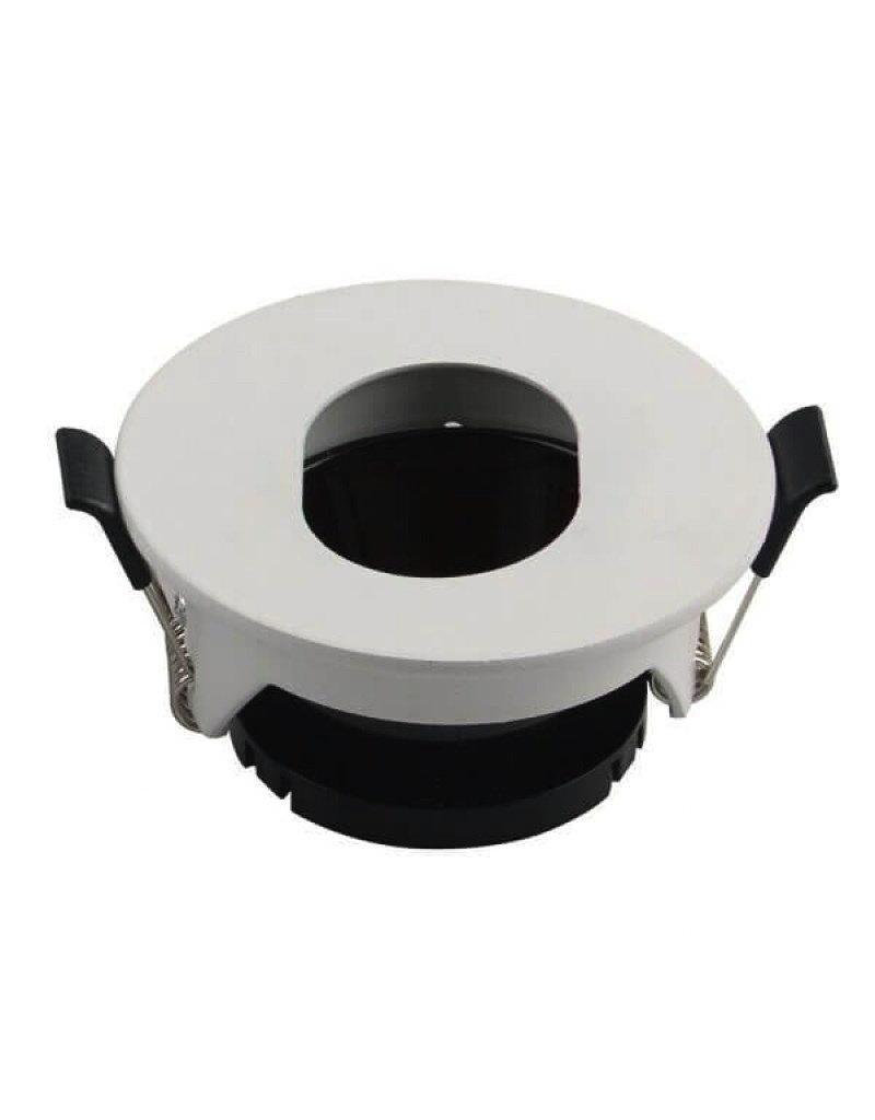 LEDFactory Einbaurahmen für LED GU10 Rund mit ovalem Lichtauslass Weiß