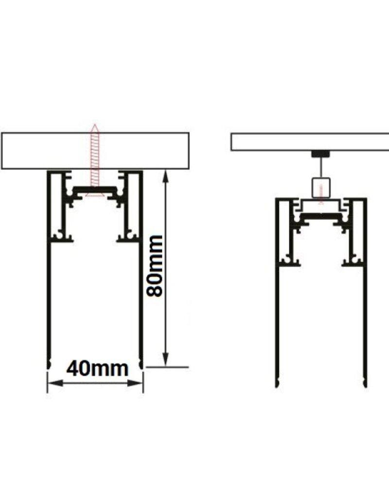 48V Stromschiene Magnetic Line Schwarz 1m