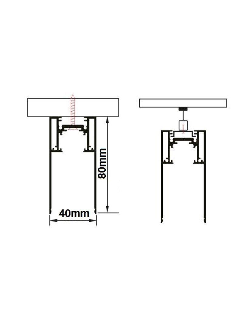 48V Stromschiene R35 Magnetic Line Schwarz 2m