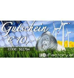 10€ LEDFactory Gutschein