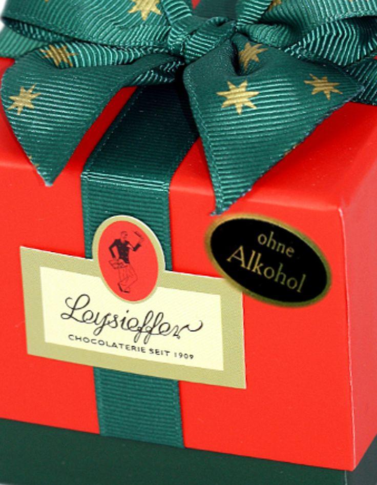 Leysieffer Weihnachtspäckchen mit köstlichen Pralinen ohne Alkohol
