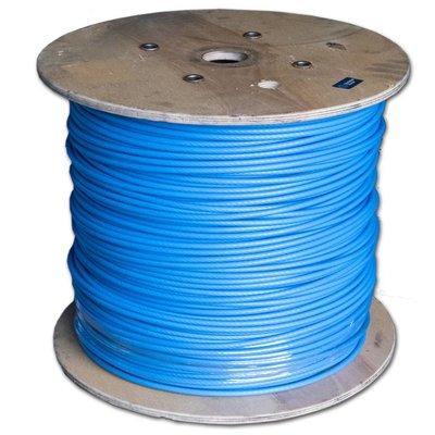 Staalkabel blauw geplastificeerd 6/8 voor mestschuiven