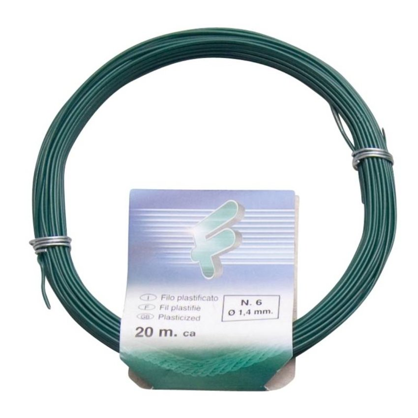 Iron wire 1.4 mm x 20 meters PVC