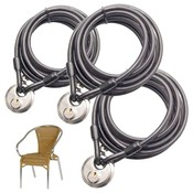 3 pieces Wire Rope with Disclock keyalike 10 meter terracecable