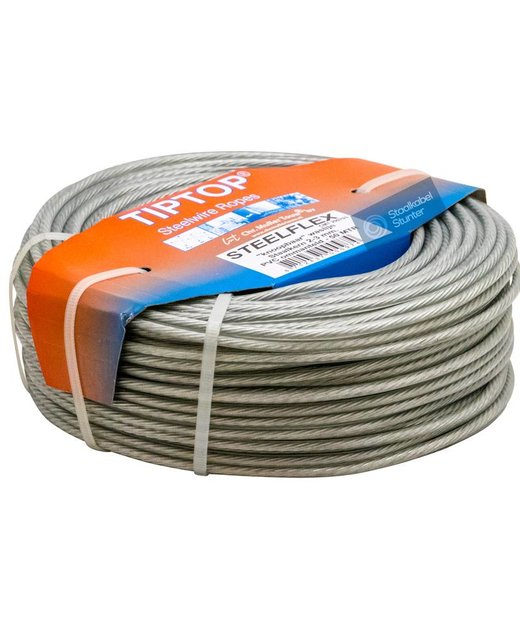 Staaldraad - Waslijndraad Drooglijndraad 50 meter waslijn maken