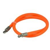 Slimline Stahlkabel/Schlaufenseil Spezialschloss 80cm orange
