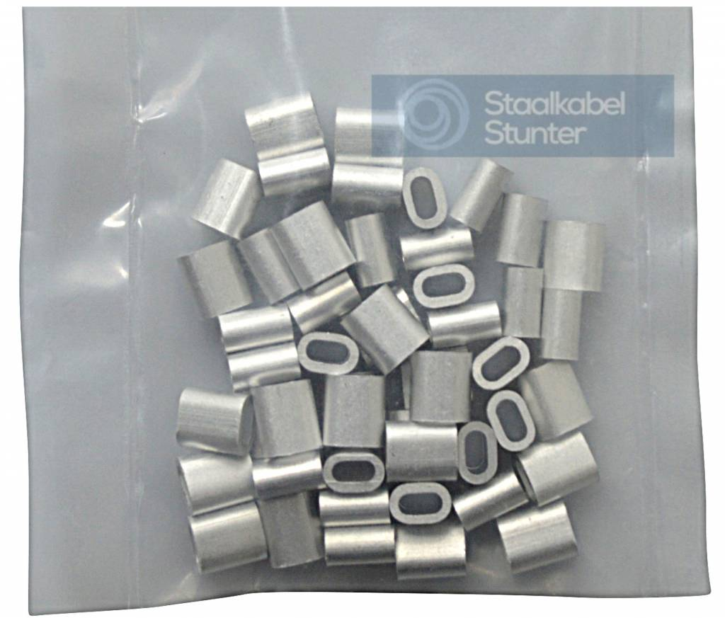 Alu Klemme Stahlseil Constrabo/® Ovale Alu-Pressklemmen nach DIN EN 13411-3 Drahtseilklemmen | Pressh/ülsen Pressklemmen f/ür Seile Draht Seilverbinder DIN 3093 50x Aluminium Pressklemme 3.5 mm