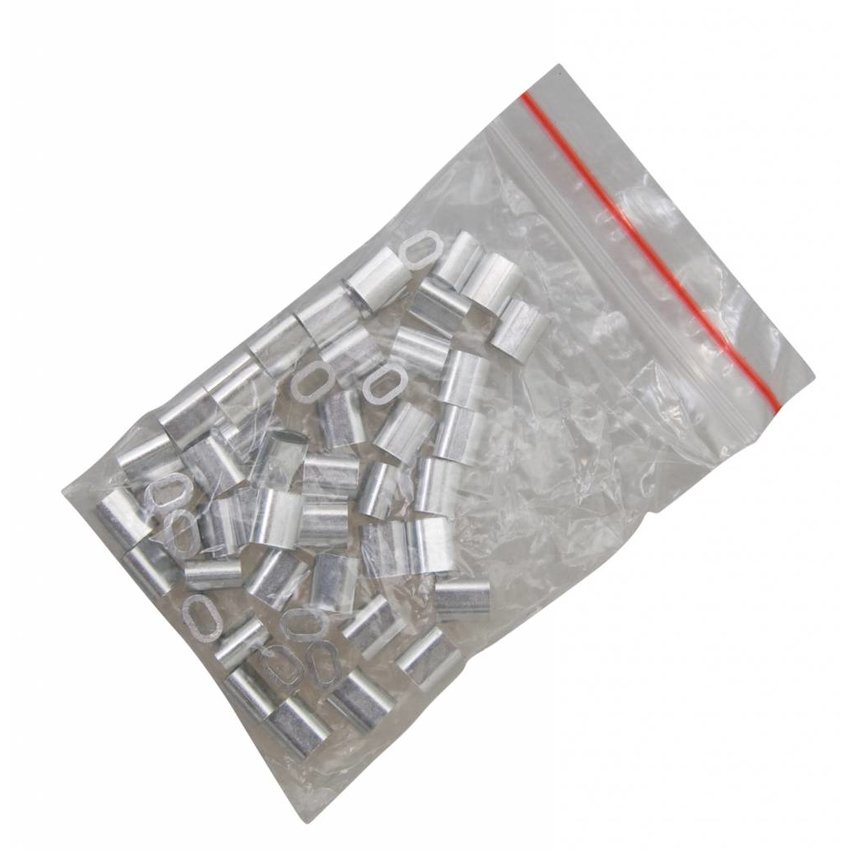 Wire rope clips 2,5mm Discount pack 50 pieces