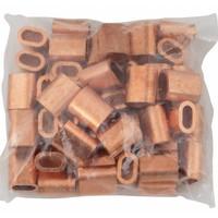 Drahtseilpressklemmen Kupfer 6mm 50st