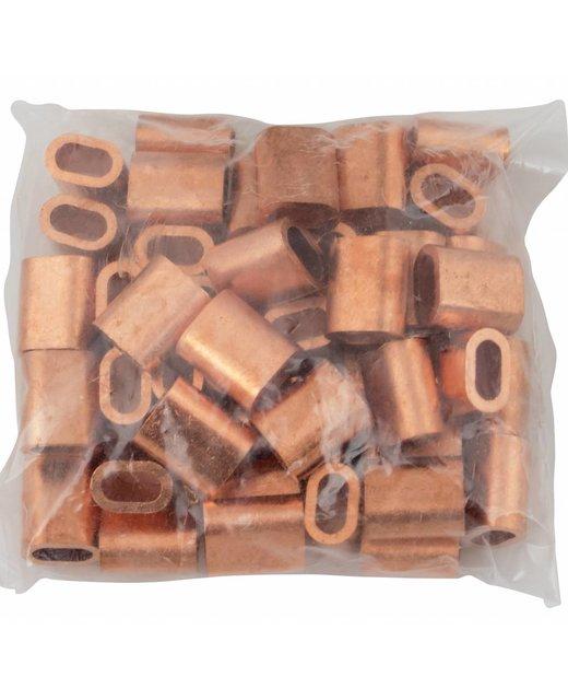 Kupfer Presshülsen  6mm 50 Stück