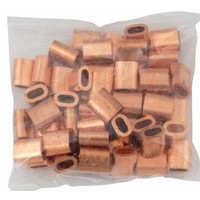 Wire rope clips copper 4mm 50pc