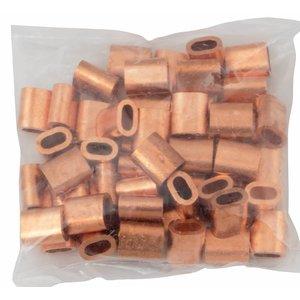 Kupfer Presshülsen 4mm50 Stück