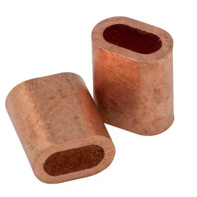 Kupfer Drahtseilpressklemmen 3mm 50 Stück