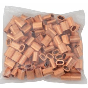Drahtseilpressklemmen Kupfer 3mm 50st
