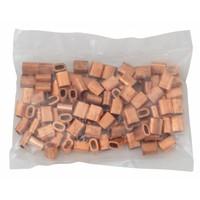 Drahtseilpressklemmen Kupfer 2mm 50st