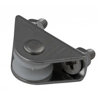 pulley with fixingsplaat 30mm stainless