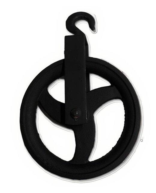 Zwarte hijshaak 220mm